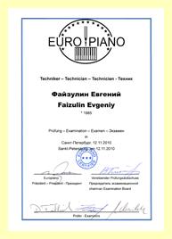 Настройка нового пианино c bechstein