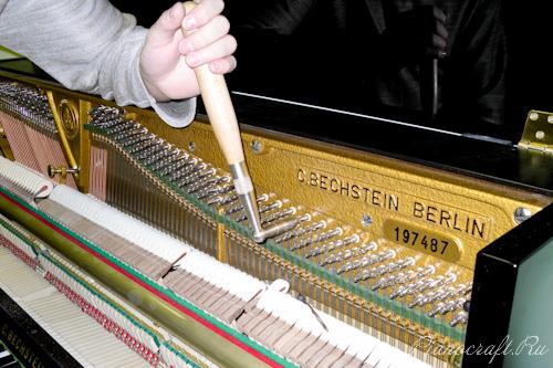 Настройка нового пианино C. Bechstein.