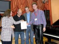 Вручение сертификата «Бёзендорфер»