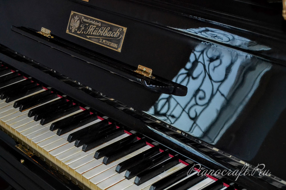 Реставрация пианино F.MUHLBACH