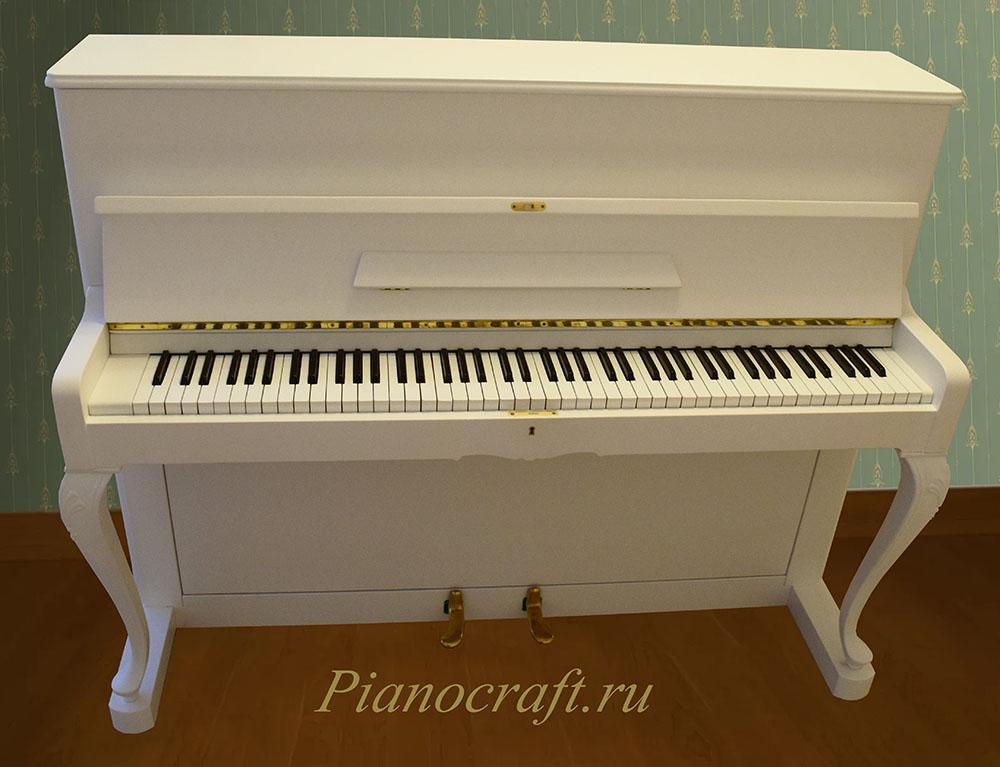 Покрасить пианино PETROF в белый цвет
